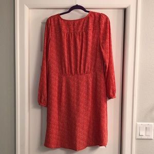 The Loft NWT Red Heart Fit and Flare Dress